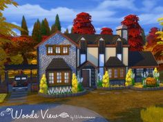 Akisima Sims Blog: Woods View house • Sims 4 Downloads