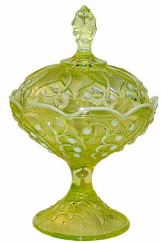 1950's Fenton Lily of the Valley. Learn about your collectibles, antiques, valuables, and vintage items from licensed appraisers, auctioneers, and experts at BlueVault. Visit:  http://www.BlueVaultSecure.com/roadshow-events.php