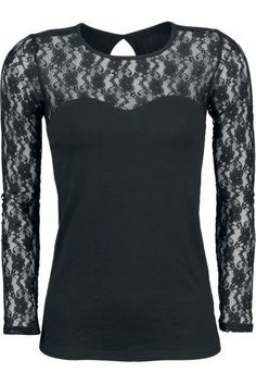 black lace longsleeve by Gothicana