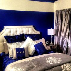 Royal Blue, silver, white grey. I'm completely obsessed in ...