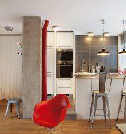 Une cuisine parfaitement intégrée dans le salon - Marie Claire Maison