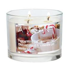 Avon Holiday Peppermint Cocoa Scented Candle