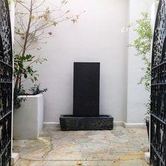 contemporary garden fountains los angeles
