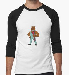 Bulldog Plumber Monkey Wrench Standing Cartoon by patrimonio