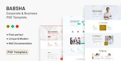 Buy Babsha - Corporate & Business PSD Template by Jit_Banik on ThemeForest. Description: Babsha – is a responsive quick and easy customizable corporate and business PSD template that comes with. Corporate Business, Start Up Business, Grid System, Psd Templates, Photoshop, Creative, Easy