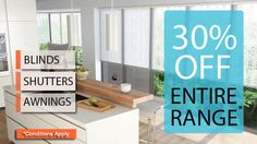 Apollo Blinds offering 30% Off on #blinds, #Awnings and #Shutters. Visit http://www.apolloblinds.com.au/specials/  for more info or call 132899.