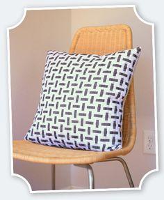 DIY Woven Grosgrain Pillow