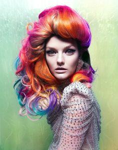 crazy rainbow hair!!!