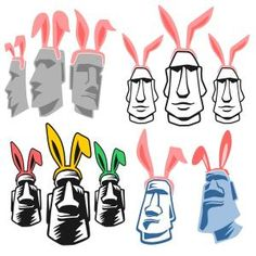 Funny Easter Island with Bunny Ears Svg Cuttable DesignsCuttable Design Cut File. Vector, Clipart, Digital Scrapbooking Download, Available in JPEG, PDF, EPS, DXF and SVG. Works with Cricut, Design Space, Sure Cuts A Lot, Make the Cut!, Inkscape, CorelDraw, Adobe Illustrator, Silhouette Cameo, Brother ScanNCut and other compatible software.
