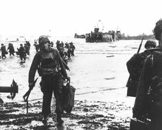 D-Day: The Normandy Invasion. Soldiers move onto Omaha Beach during the Allied Invasion of Europe on D-Day, June 6, 1944. www.army.mil/d-day