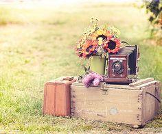 Vintage Suitcase & Camera