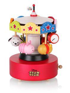 Disney Tsum Tsum Carousel Wooden Music Box - Merry Go Around. This music box plays 'In The Good Old Summer Time' – decowrist Disney Diy, Disney Crafts, Disney Dream, Disney Magic, Tsum Tsum Toys, Disney Tsum Tsum, Wooden Music Box, Tsumtsum, Mickey Mouse