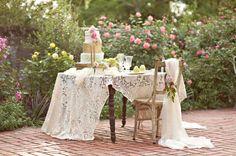 Outdoor Spring shabby chic wedding 2