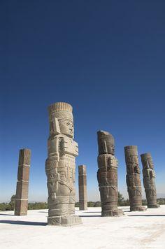 Mexico, Archaelogical Zone of Tula (Toltec Ruins), Temple of Quetzalcoatl