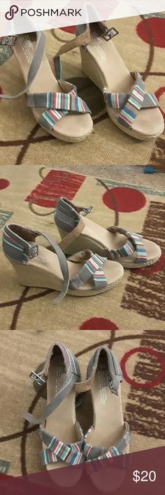 Toms Wedges Used once Size W8 2.5 inch height Same day delivery Toms Shoes Wedges