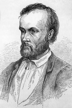 Aleksis Kivi. Piirros Albert Edelfelt, Ylen arkisto