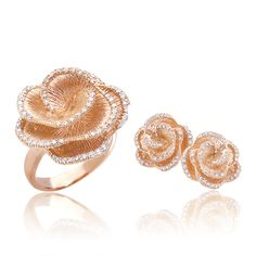 Effy Jewelers Online Shop - Pave Rose 14k Pink Gold Diamond Ring (0.35 TCW) at EffyJewelers.com