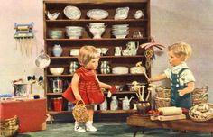 AK Postkarte Puppenkarte Küche Kochutensilien Einkauf DDR Spielzeug Käthe Kruse in Sammeln & Seltenes, Ansichtskarten, Motive   eBay
