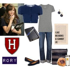 Cute outfit for Rory Gilmore, except that Rory ends up going to Yale.