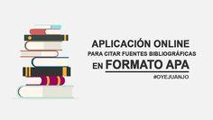 Gestor online de referencias bibliográficas en Formato APA | Oye Juanjo!
