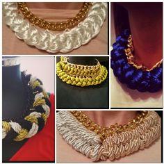 Braid multi colours necklace