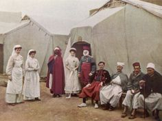 Nurses of the French Red Cross Posing for a Photograph