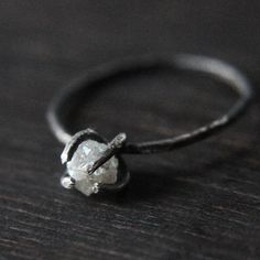 Rough diamond on rough metal. Rustic Love