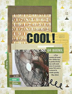 A vintage fan layout using Echo Park's This & That Charming