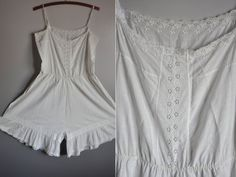 Circa 1900 Bloomers Overall Lingerie // Lace  by LaDeaDeiSogni, $22.00