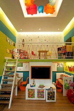Fun Indoor Playground Design Ideas For Your Children Playground Design, Indoor Playground, Children Playground, Playroom Design, Kids Room Design, Playroom Ideas, Kids Cafe, Toy Rooms, Kids Rooms