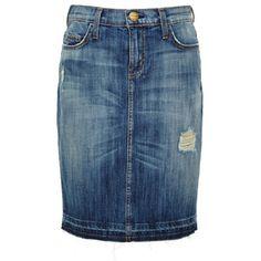 Current/Elliott Jodie Distressed Denim Skirt