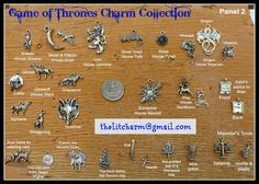 Game of Thrones  A Song of Ice and Fire Themed Charm Collection EXTENSIVE