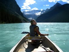 Canoeing on Lake Louise, Banff. (And yes, I did just see the Bachelor episode filmed here!) I've always, always wanted to visit Lake Louise and that canoe trip looked like heaven on earth. Sign me up!!