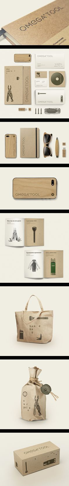 Omega tool branding on Behance