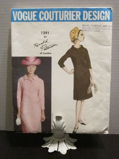 VCD 1391 Ronald Paterson Dress Sz14/34/26/36 Uncut+tag 14 Semi-fitted, slightly A-shaped dress & collar.Button front closing, 3/4 length kimono sleeves. sld 16.5+6.45 6bds 10/11/16 new
