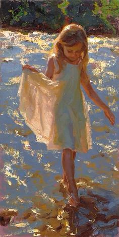 Mike Malm, Dazzling Light, oil, 24 x - Southwest Art Magazine Paintings I Love, Beautiful Paintings, Illustration Art, Illustrations, Oil Portrait, Southwest Art, Malm, Beach Art, Magazine Art