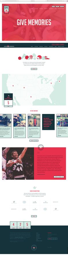 Give sports, web design by griflan