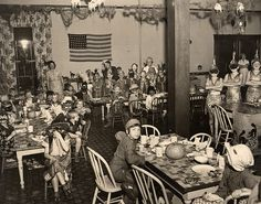 1937 Halloween Party.....Los Angeles  Orphan's Home.....vintage photo