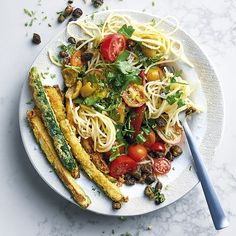 Tomato Salsa Pasta with Baby Marrow Fries Healthy Food, Healthy Recipes, Unsweetened Almond Milk, Cooking Instructions, Cooking Time, Food For Thought, Pasta Recipes