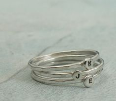 Stackable Letter Ring  custom made ring with by KathrynRiechert, $25.00