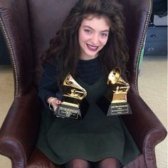 Lorde with her Grammy's