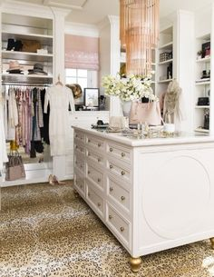 Blogger Rachel Parcell edited down her clothes from bright colors to neutral tones and soft pinks to bring this dreamy closet together.