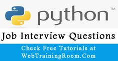 python Interview Questions Answers