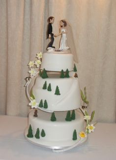 Ski Theme Wedding Cake Images