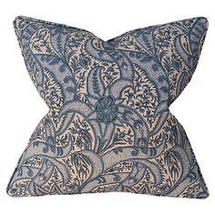 Evolution 22x22 Pillow, Blue