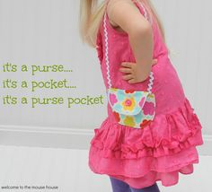 Welcome to the Mouse House: Purse Pocket Tutorial and Pattern: Guest Post