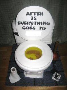 2) A unique pin  -   Would you believe...  A Toilet Cake!   =)