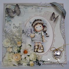 Cards By Kim: Magnolia Only Ribbon Girls Challenge - Add Flowers...