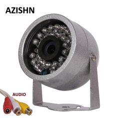 Cheap cctv camera design, Buy Quality cctv zoom directly from China cctv colour cameras Suppliers: AZISHN CMOS With Audio surveillance 30 LED night vision Security Outdoor Color metal shell Waterproof CCTV Camera Wireless Home Security Systems, Security Alarm, Security Surveillance, Surveillance System, Security Camera, Best Home Security, Security Tips, Security Equipment