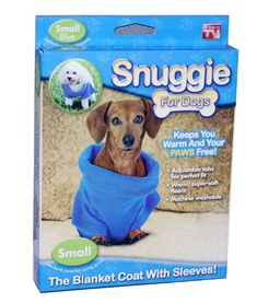 Snuggie for Dogs Blue Colored Fleece Blanket Coat with Sleeves - Small Telebrands http://www.amazon.com/dp/B00CPSXKAW/ref=cm_sw_r_pi_dp_7UwRwb1MN8GQG